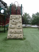 rock wall on big play area
