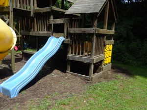 Toddler slide, with tic tac toe game